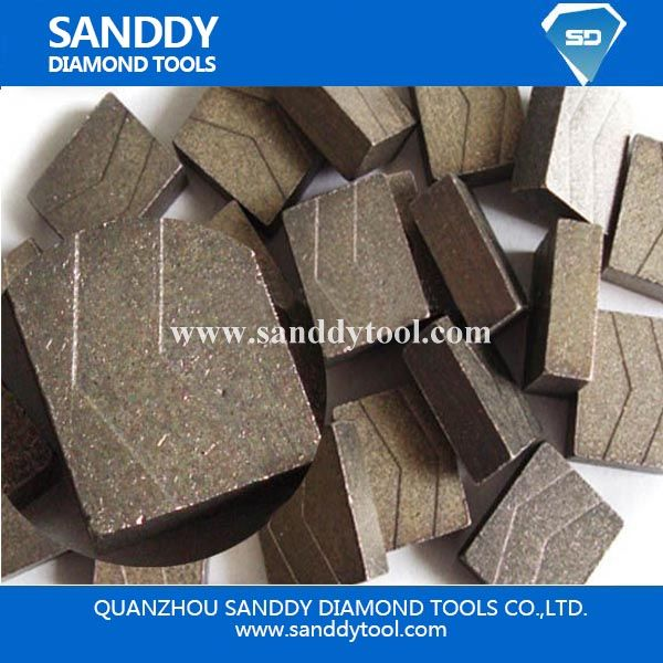 D2000mm granite cutting segment to Indian Market